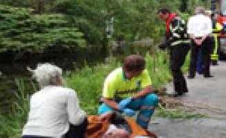 Invalide persoon ter water Kortelandseweg Nootdorp