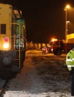 Trein botst met sneeuwschuiver Mannheimweg Botlek