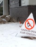 Zestien woningen ontruimd door gaslek Van Heuven Goedhartstraat Schiedam