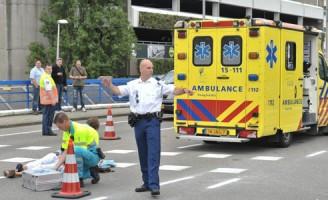 Fietser gewond bij aanrijding J.L. van Rijweg Zoetermeer