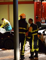 Vijf gewonden bij frontale aanrijding Parallelweg