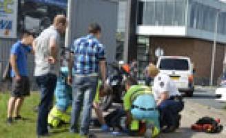 Bromfietser gewond na aanrijding Jagtlustkade Sassenheim