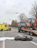 Motorrijder verongelukt Groenedalseweg Bleiswijk