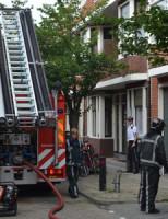 9 augustus Woning uitgebrand op de Van Musschenbroekstraat