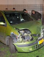 24 februari Gewond bij botsing tegen Flatmuur Leiden