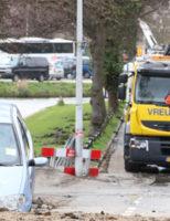29 maart Gesprongen waterleiding zorgt voor flinke wateroverlast Rijnsburgersingel Leiden
