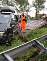 18 augustus Auto komt tot stilstand tegen de vangrail A12 Reeuwijk