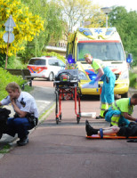 10 juni Brommerrijder gewond Leiden
