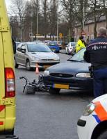 Fietsster aangereden door auto Raadhuislaan Voorschoten