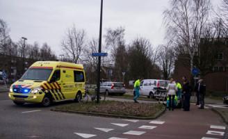 12 februari Fietser gewond bij aanrijding op rotond Vlaardingen