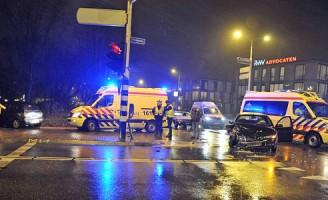 Aanrijding op kruising Haagweg/Churchilllaan Leiden