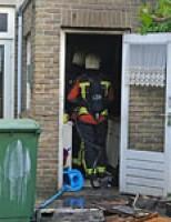 Brand in keuken De Goejestraat Leiden
