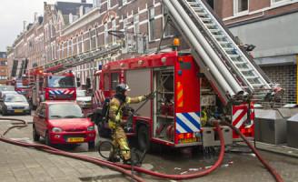 14 april 13 gewonden bij Grote Brand Jan Porcellistraat Rotterdam