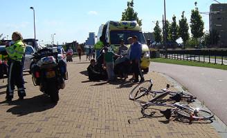 14 augustus Aanrijding fietser versus fietser