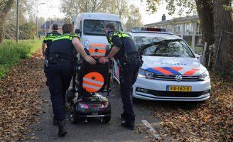 18 oktober Man met scootmobiel rijd van de dijk af Goejanverwelledijk Gouda