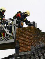 20 oktober Flinke schoorsteenbrand in woning Kennedysingel Reeuwijk