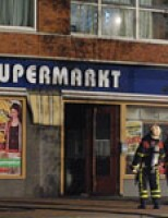 Middelbrand in supermarkt De La Reyweg Den Haag