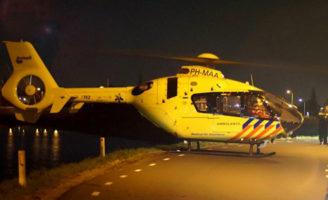 12 maart Traumahelikopter vliegt uit voor een incident op het fietspad Oosteinde Moordrecht