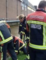 17 maart Brandweer haalt overleden zwaan uit het water Kaagplein Reeuwijk