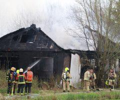 15 april Uitslaande brand in leegstaande woning 's-Gravenweg Nieuwekerk aan den IJssel