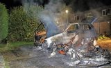 18 november Auto en brommobiel uitgebrand Groenlust Gouda