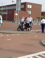 18 juni Aanrijding auto versus scooter