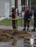4 juli Brandweer blust een brandende stapel met hooi Willem de Zwijgerlaan Gouda