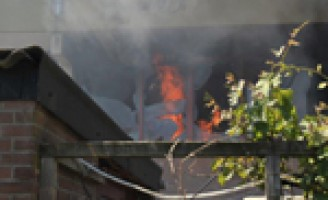 Slaapkamer uitgebrand Billie Holidayrode
