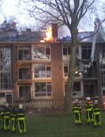 Brandstichting in slooppanden Professor Telderslaan Delft