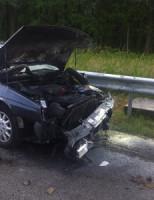 23 mei Personenauto vliegt in brand na aanrijding op de A4