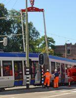 5 augustus Tramverkeer ontregeld na ontsporen Randstadrail Laan van Nieuw Oost-Indië Den Haag [VIDEO]
