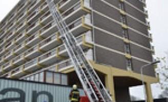 Brand op zevende verdieping flat Leiden