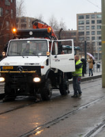24 december Tram ontspoort in tunnel Leeghwaterplein