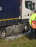 Flinke diesellekkage na lekgereden tank Europoort