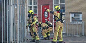 27 februari Flinke rookwolken bij brand in fietsenstalling van school P van Vlietlaan Rijswijk