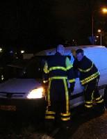 Auto uit de bocht Den Hoorn
