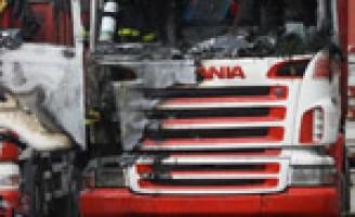 Vrachtwagenbrand Heulweg Rijswijk