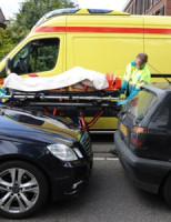 14 april Twee gewonden bij kop-staart aanrijding Sassenheim