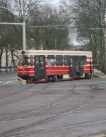 24 december Tram ontspoort Korte Voorhout Den Haag