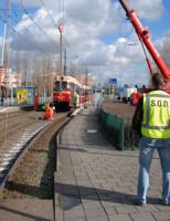 21 februari Tram ontspoord Laan van 's-Gravenmade Den Haag
