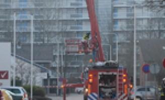 Grote brand autoschade herstel bedrijf Spijkenisse