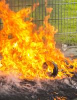 4 mei Kliko op sportveld in brand gestoken Schiedam