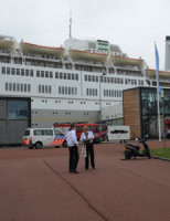 25 augustus SS Rotterdam ontruimd door brandalarm