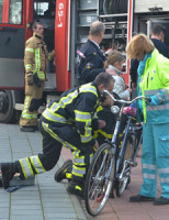 22 januari Jongentje bekneld in achterwiel fiets Spijkenisse
