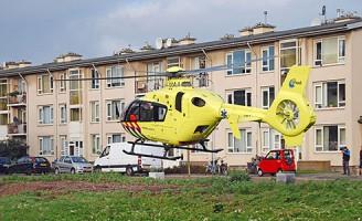 Bestuurder zwaargewond na aanrijding Erasmusplein Den Haag