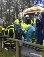 21 januari Auto beland op houten vangrail Wassenaar