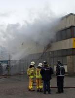 14 april Grote brand in loods Graafstroomstraat Rotterdam