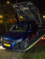 24 februari Auto klem in park na achtervolging Schiedam