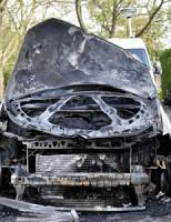 2 mei Voertuig total loss na brand Gerrit Kasteinstraat Leiden