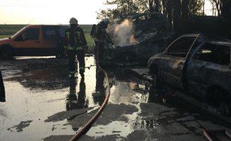 26 september Flinke brand bij autobedrijf Bredeweg Zevenhuizen